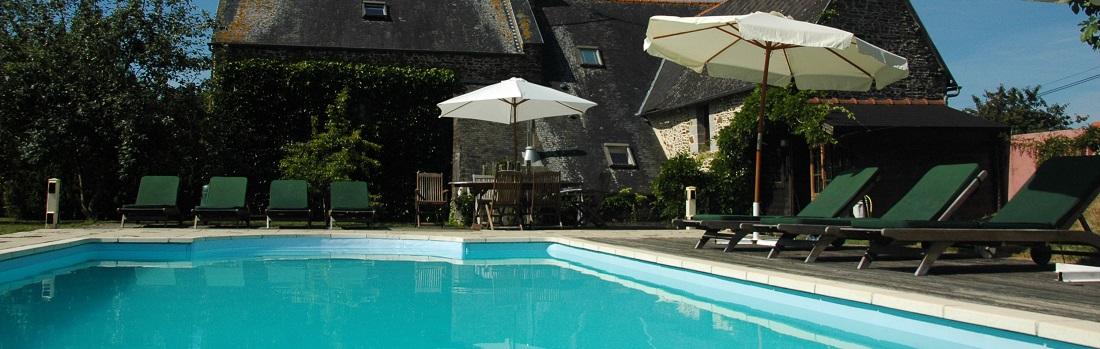 French villa swimming pool