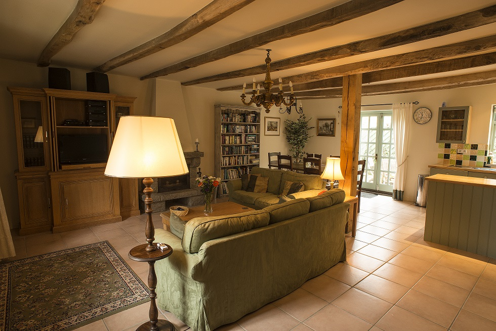 Villa gite France Brittany Living room