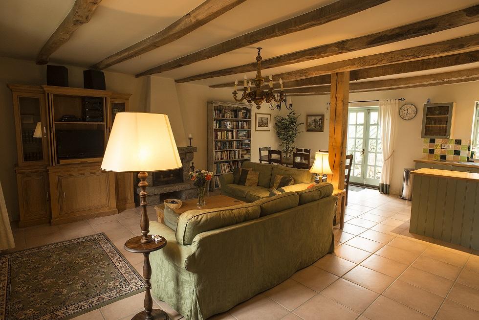 Villa gite France Brittany Living room