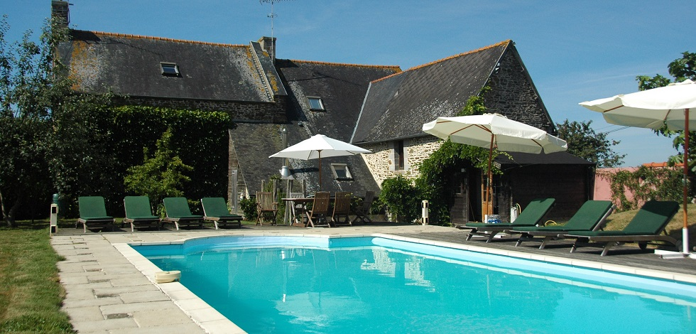 Holiday Gite Brittany Swimming Pool