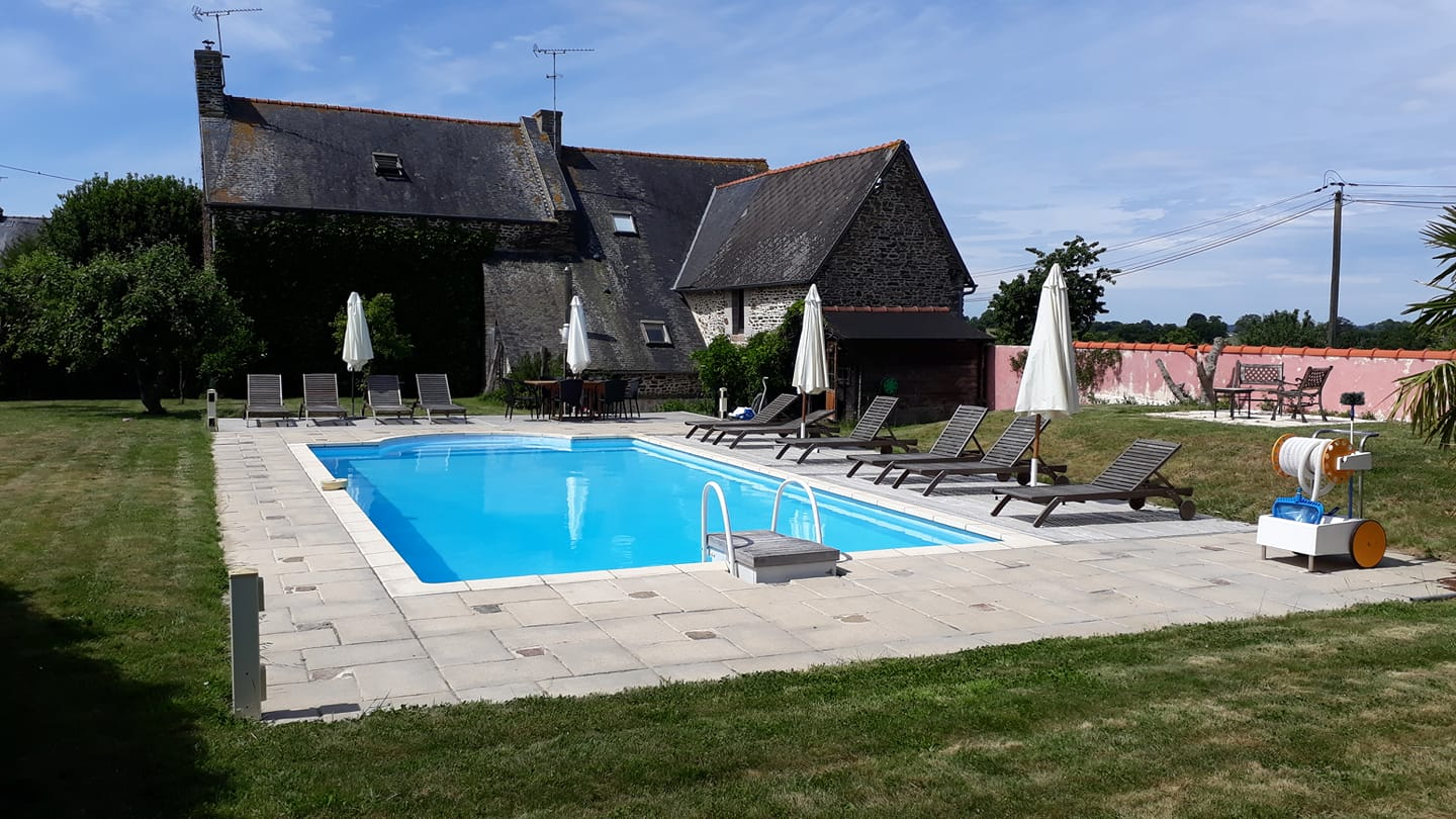Gites Brittany Heated Swimming Pool